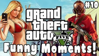 GTA 5 Funny Moments! ONLINE GAMEPLAY! (Blowjob, Fails, Robberies, Race, Crashes & MORE!)