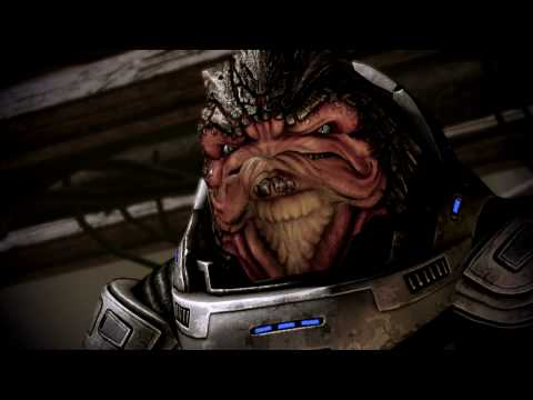 Mass Effect 2 - Grunt's Thresher Maw Challange, with Nukes! 1080p