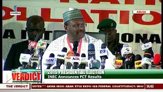 2019 Presidential Election: INEC Announces FCT Results |The Verdict|