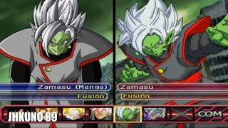 ZAMASU FUSION MANGA TEAM vs ZAMASU FUSION ANIME TEAM | DRAGON BALL Z BUDOKAI TENKAICHI 3