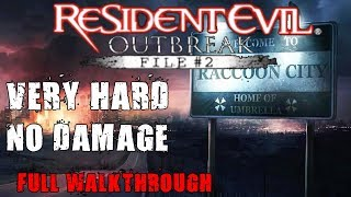 Resident Evil Outbreak File #2 Very Hard No Damage (Complete Gameplay)