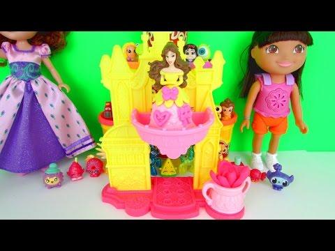 Play Doh Disney Princess: Belle Blooming Castle Fun Kids Toy Review, Hasbro