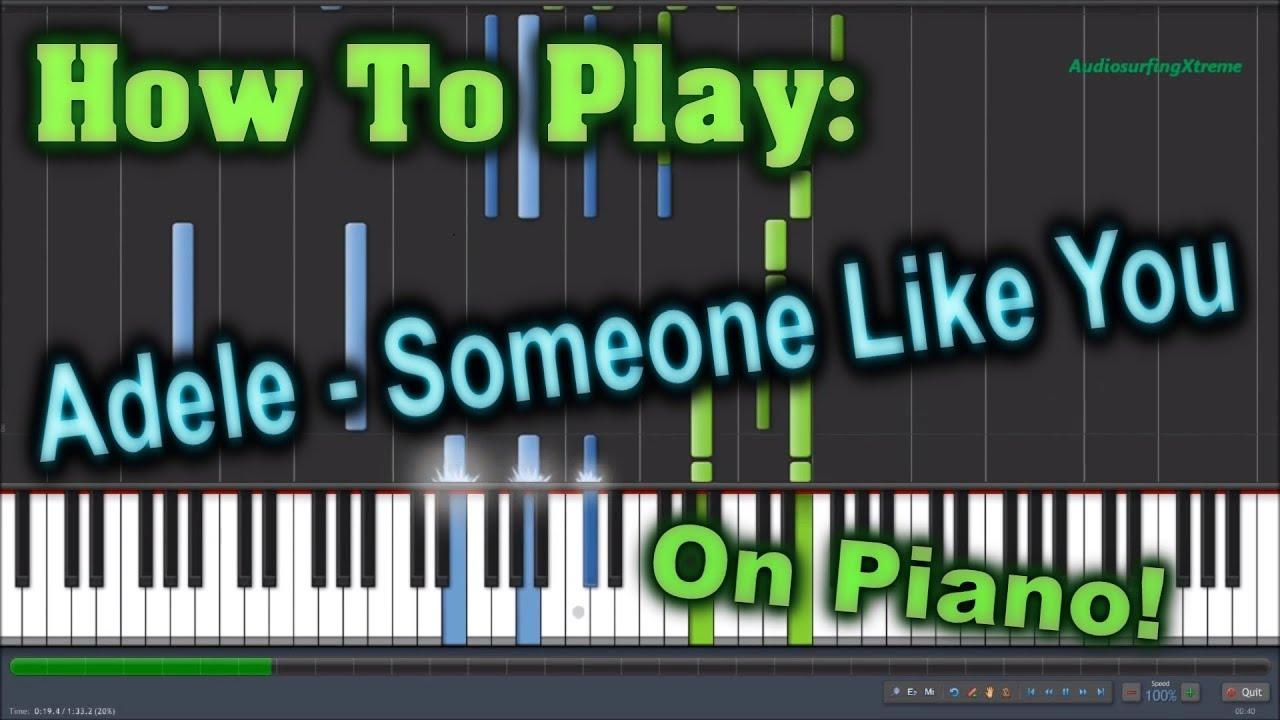Adele - Someone Like You - Piano Tutorial Easy SLOW - how ...