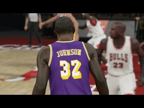 NBA 2K15 Xbox One Gameplay - Magic Johnson vs Michael Jordan! Lakers vs Bulls Full Game!