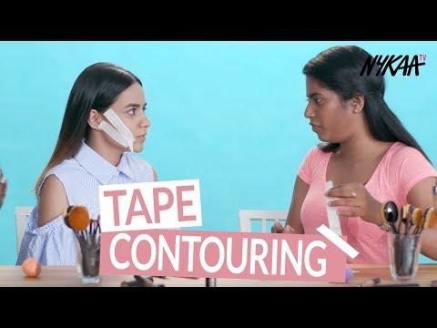 Blogger Try Tape Contouring | Komal Pandey & Nayana Shyam (Filtercopy)