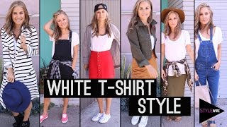 How To Style Your White T-Shirt! (STYLEWIRE)   Hollywire