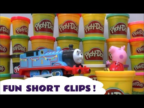 Thomas and Friends Play Doh Short Clips Jake Pirates Peppa Pig Sesame Street Disney Frozen Cars