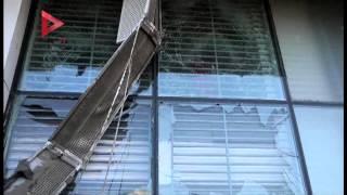 آثار انفجار قنبلة سيدي بشر بالأسكندرية أمام بنك