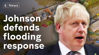 Boris Johnson defends flooding response