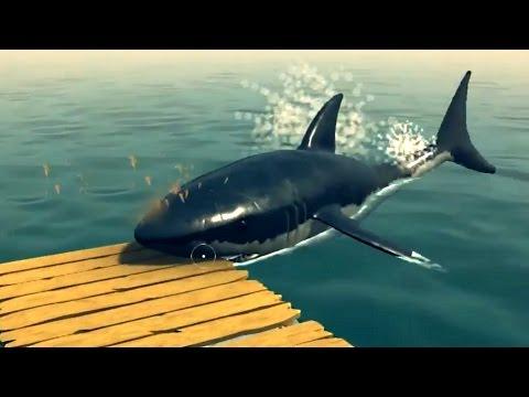 I'M BEING EATEN BY A SHARK! (Raft)