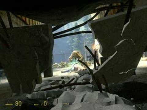 Half-Life 2 Episode Two Alyx Vance injured Video