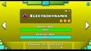 """Geometry Dash"" level 15 - Electrodynamix (100%)"