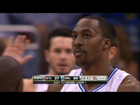 Dwight Howard Full Highlights 2011 Playoffs R1G1 vs Hawks - Career-High 46 Pts, 19 Rebs, Dunkfest