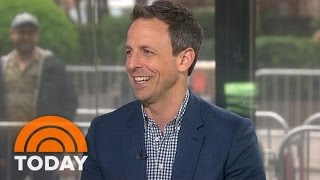 Seth Meyers On Night Terrors, Changing Diapers, His Rap Group, 'Late Night' | TODAY