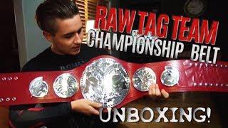 WWE RAW TAG TEAM CHAMPIONSHIP BELT UNBOXING!