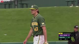 Baylor Baseball: Highlights vs. Holy Cross