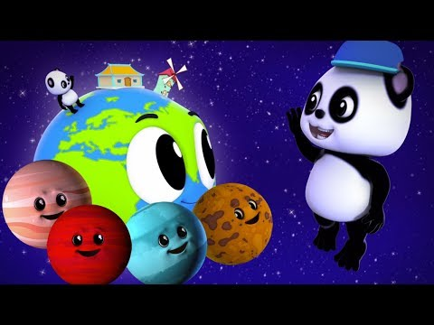 bao panda pianeti canzoni imparare i pianeti Nursery Songs Solar System Rhyme Planets Song For Kids
