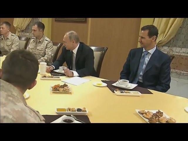Сирия. Визит Путина на российскую авиабазу Хмеймим