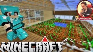 CAM SERA YAPTIK | Minecraft Türkçe Gizemli Dağ | Bölüm 4