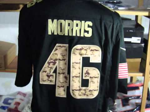 Washington Redskins #46 alfred morris Black Salute to Service Jerseys By www.intojerseys.com
