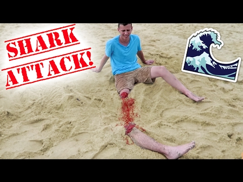 SHARK ATTACK BEACH PRANK!! - HOW TO PRANKS