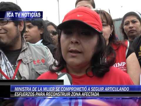 VISITA DE MINISTRA DE LA MUJER EN PISCO POR INCENDIO