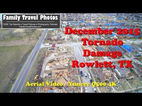 Rowlett Texas Tornado Damage December 2015 - Amazing Aerial Video With the Yuneec Q500 4K
