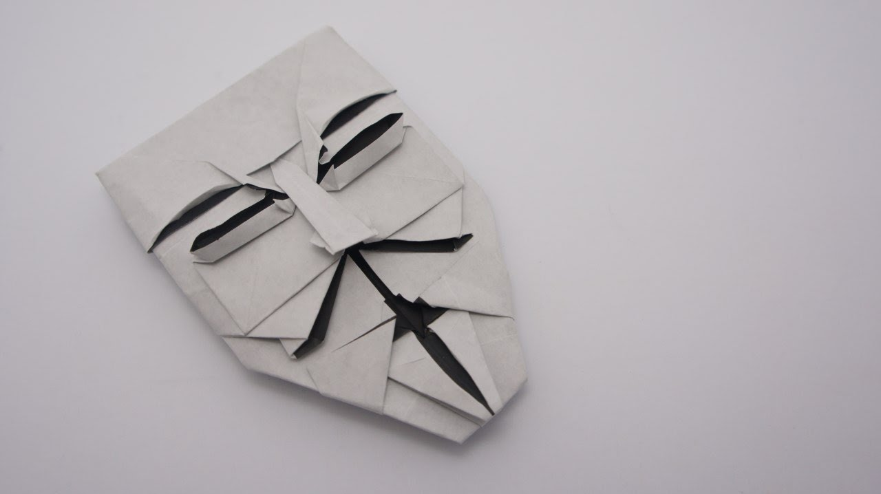 Origami Guy Fawkes Mask  Brian Chan
