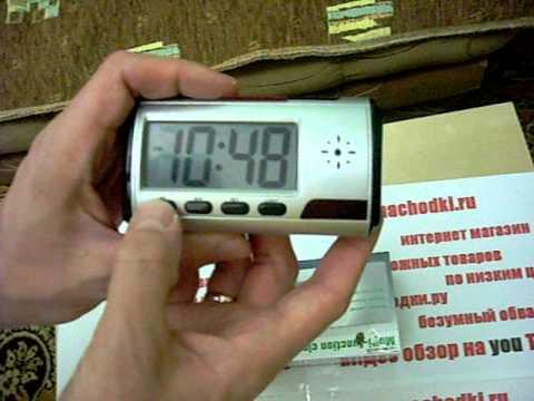 Настольные часы с камерой и пультом управления