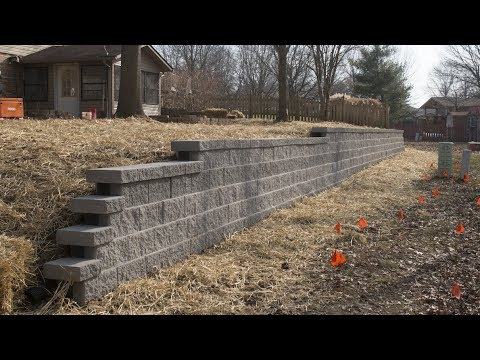 Massive Retaining Wall Build Part 2 | Rockwood Block