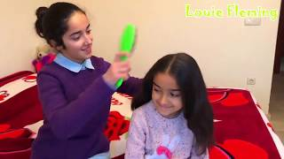 Pretend play with play doh nails fun kid video with Louie Fleming