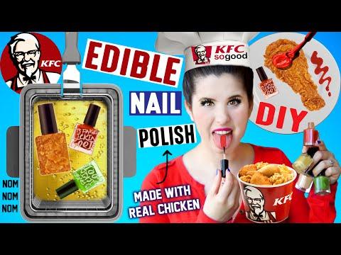 DIY EDIBLE KFC Nail Polish   EAT Fried Chicken Flavored Nail Polish   Made With Real Fried Chicken!