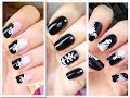 3 Unhas Decoradas Passo-a-Passo (Lacinho, All Star e Zipper) - 3 Easy Nail Art Desings