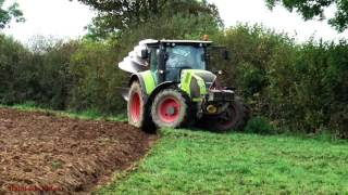Reclamation Ploughing with Claas Arion 650