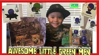 AWESOME LITTLE GREEN MEN TOYS: Unboxing Surprise Toys plus Top Secret Mystery box