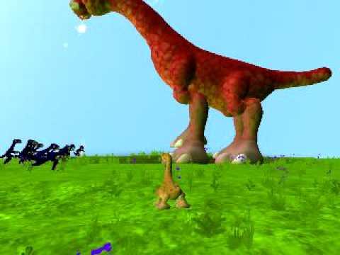 Brachiosaurus Vs Velocilraptors