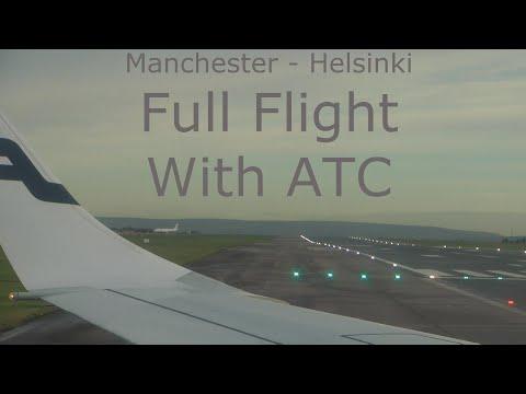Full Flight Manchester - Helsinki Finnair economy E190 with atc
