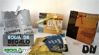 DIY♻ BOLSA DE REGALO EN PAPEL PERIÓDICO - DIY DE GIFT BAG ON PERIODIC PAPER