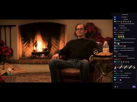 Jeff Kaplan's Yule Log trolling announcement of NEW Hero in Overwatch(NOT REALLY)