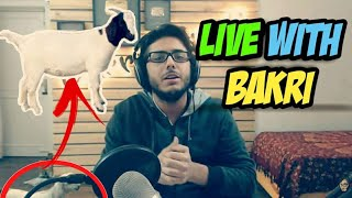 CARRYMINATI INTERRUPTED BY A BAKRI / GOAT WHILE LIVE STREAMING ON CARRYISLIVE CHANNEL | COD WW 2 |