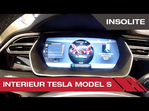 tableau de bord de la tesla model s mondial auto de paris 2014 youtube. Black Bedroom Furniture Sets. Home Design Ideas