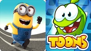 Despicable Me Minion Rush vs Om Nom Toons Cut the Rope