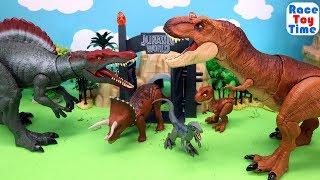 Jurassic World Dino Toys For Kids - Fun Dinosaurs Tyrannosaurus Spinosaurus