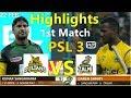 Psl 3 Peshawar Zalmi Vs Multan Sultans 1st Match Full Highlights HD 22 Feb 2018