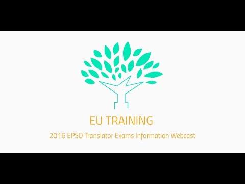 2016 EPSO Translator Exams Information Webcast