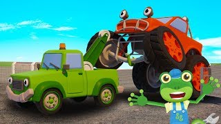 Tilly the Tow Truck Rescues Max the Monster Truck | Gecko's Garage | Educational Videos For Kids