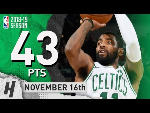 Kyrie Irving EPIC Highlights Celtics vs Raptors 2018.11.16 - 43 Pts, 11 Ast, 2 Rebounds!