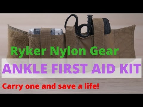 Ankle First Aid Kit (AFAK) - Ryker Nylon Gear - Review!