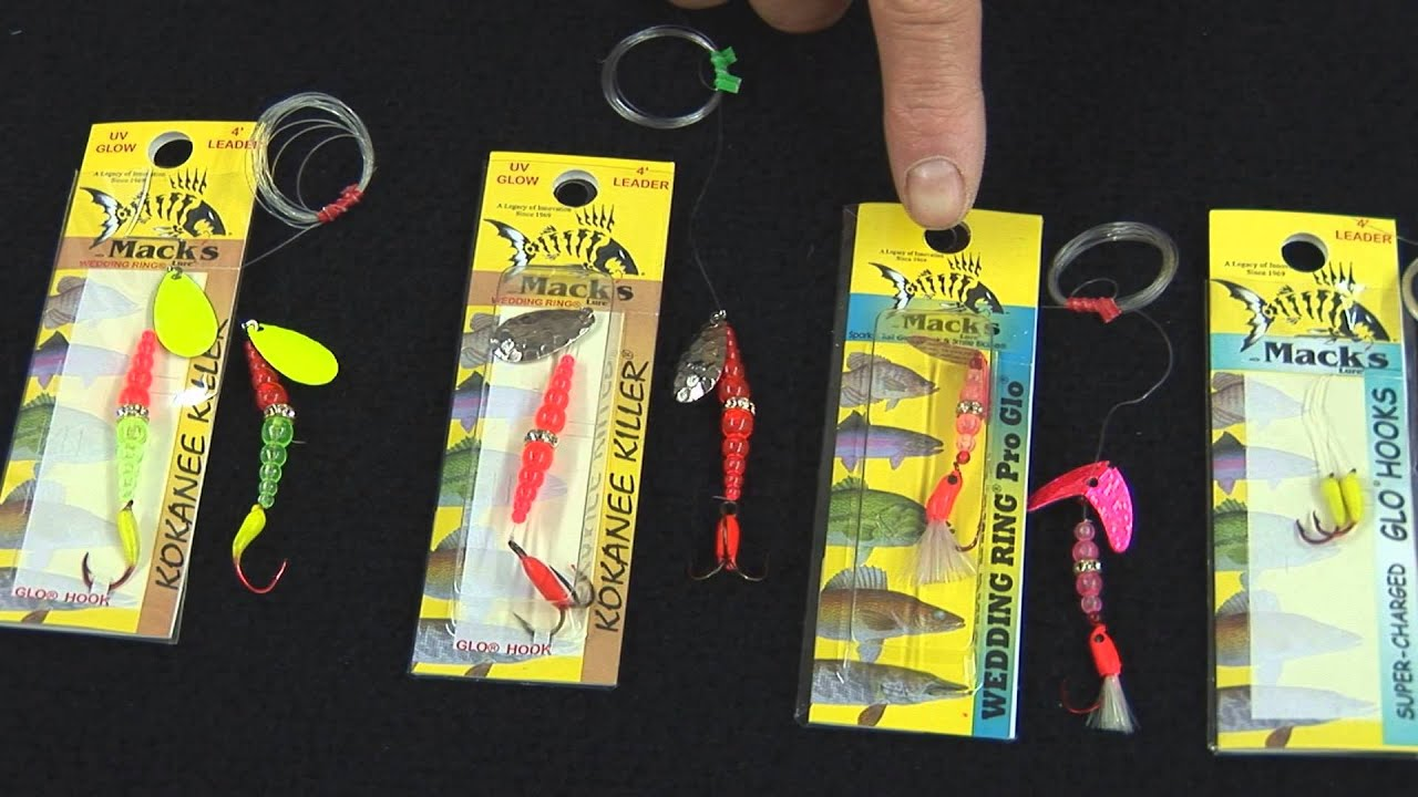 Kokanee and trout 1 hook wedding rings youtube for Wedding ring fishing lure