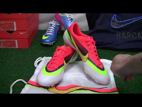 Nike Mercurial Vapor IX CR FG Soccer Cleats - White with Crimson Video Review - SoccerPro.com